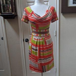 BCBG MaxAzria Geometric Print Knit Dress sz XS